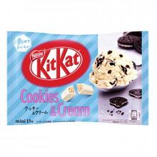 Mini KitKat chocolat blanc saveur Cookies and Cream - Nestlé - 13 pièces