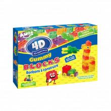 Bonbon à construire 3D+Délicieux Gummy Blocks 200g