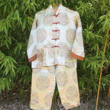 Ensemble enfant veste et pantalon doré boutonnière traditionnelle