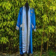 Kimono réversible bleu foncé ou gris