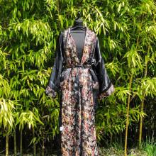 Kimono dragon réversible noir/or et motif