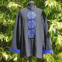 Veste noire sceau bleu traditionnel