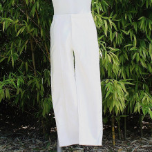 Pantalon satiné coloris blanc