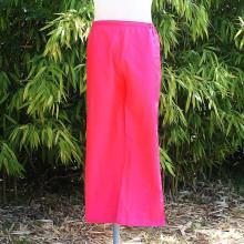 Pantalon satiné coloris rose