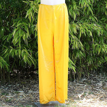 Pantalon satiné coloris jaune