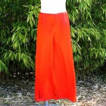 Pantalon satiné coloris orange