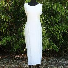 Robe longue blanche à motifs chinois