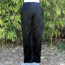 Pantalon noir motifs sceaux chinois