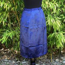 Jupe bleu roi style asiatique - Taille Unique