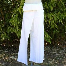 Pantalon Thaïlandais blanc - Taille Unique