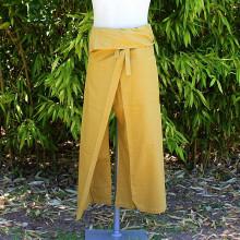 Pantalon thaïlandais jaune pâle - Taille Unique