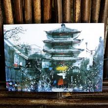 Carte postale japonaise - Temple japonais