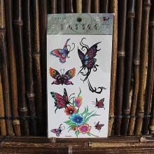 Tatouage éphémère papillons & fleurs