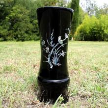 Vase laqué et nacré vietnamien - 27 cm