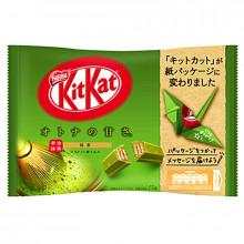 Mini KitKat au thé vert matcha avec l'emballage en papier pour origami 146g 13 pcs