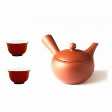 Service à thé japonais Kyusu avec 2 tasses