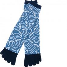 Chaussettes Japonaises Kurochiku Ukiyo-e bleu