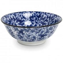 Bol bleu motif lianes - 21 cm