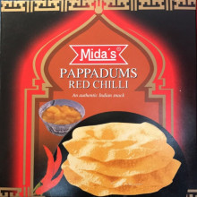 Pappadums (galette indienne) saveur piment rouge 110 g