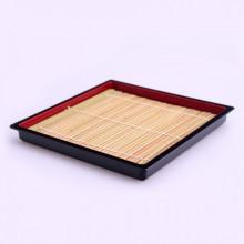 Plateau(pour soba) noir et rouge avec...