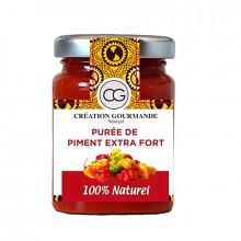 Purée de piment extra fort 100%naturel- Senea Food-100g