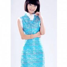 Robe chinoise (Qipao) poupée chinoise bleu