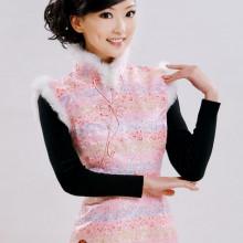 Robe chinoise (Qipao) poupée chinoise rose