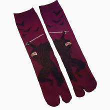 Chaussettes tabi samouraï violettes