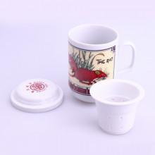Tasse de thé signe chinois rat