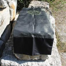 Chemin de table Caligraphie vert et kaki