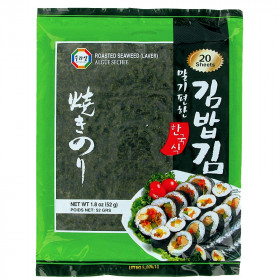 Algue nori pour sushi 20 feuilles Surasang 48g