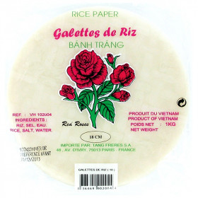 Galettes de riz 18 cm Red Rose 1 kg