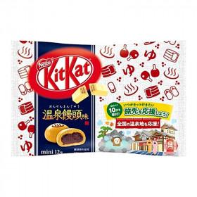 Mini KitKat  chocolat blanc saveur ONSEN MANJU 130g 12 pièces