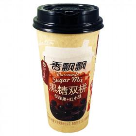 Thé latte ( Bubble tea) et sucre brun instantané avec Boba et haricots rouges 90g