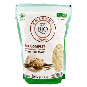 Mon riz complet Bio Thai parfum Jasmin Thai Hom Mali 1kg
