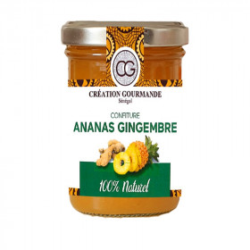 Confiture ananas gingembre réduite en sucre 200g