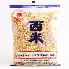 Billes de tapioca colorés petite taille 400g