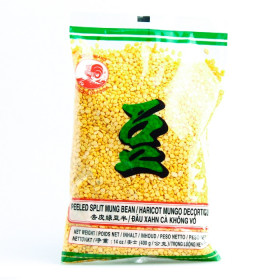 Grains de soja vert (haricots mungo) décortiqués- Cock -400g