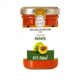 Confiture papaye 100% naturel avec morceaux 240g