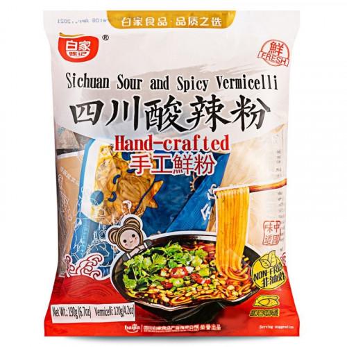 Vermicelles de patate douce saveur poivre de Sichuan avec nouilles fraiches fait main - Bai Jia 190g