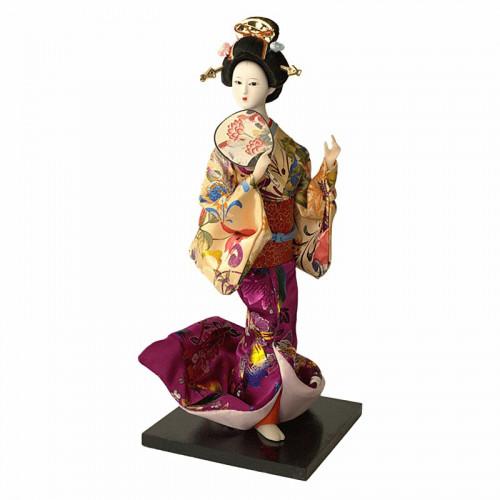 Poupée Geisha avec eventail