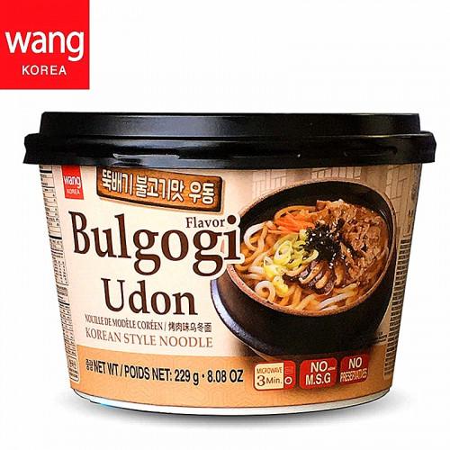 Soupe de nouilles Udon saveur Bulgogi en bol Wang Koréa 229g