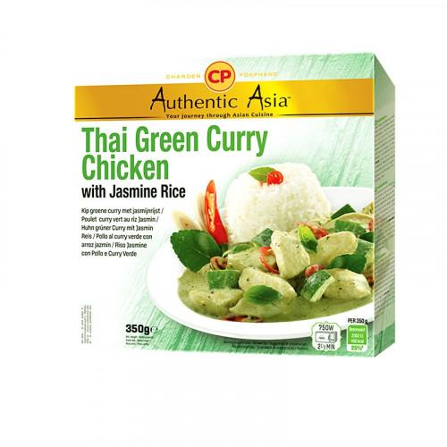 Plat préparé de poulet au curry vert et riz jasmin 350g