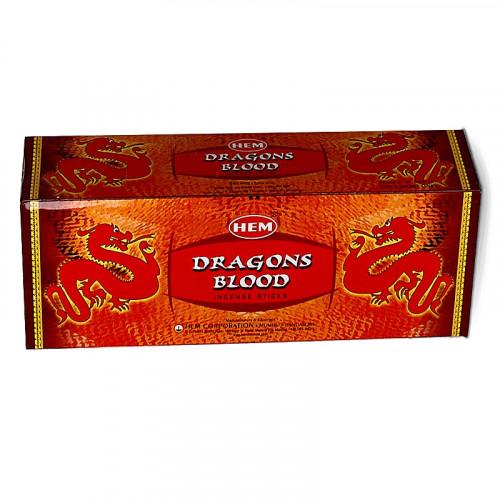 Encens Charbon de bois - Hem Sang de Dragons 20 bâtons