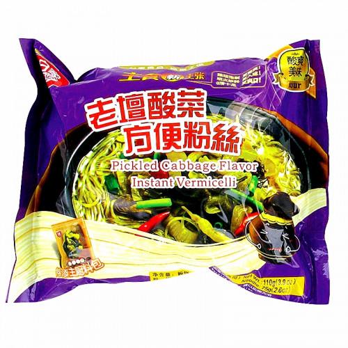 Soupe de vermicelles de patate douce saveur Kai Choy Baijia 110g