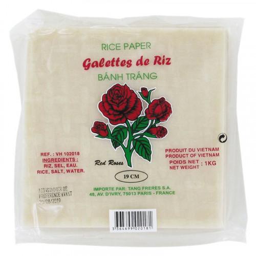 Galettes de riz  19cm Red Rose 1kg