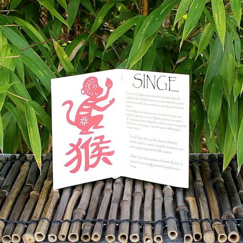 Livret signe du Zodiac du Singe