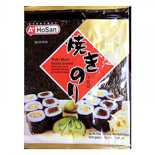 Algue Nori pour sushi 10 feuilles-HoSan-22g
