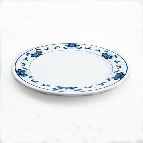 Assiette nénuphar bleu 23cm diamètre