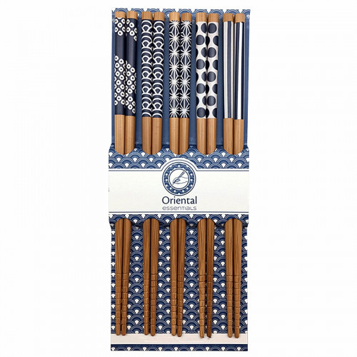 Set de 5 baguettes japonaises en bois Orientals Essencials